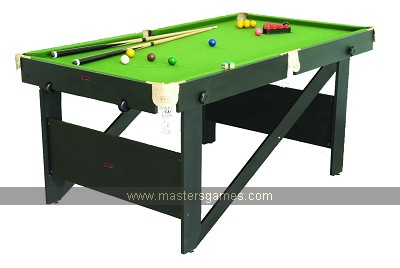 BCE Rolling Lay Flat Snooker Table - 6ft