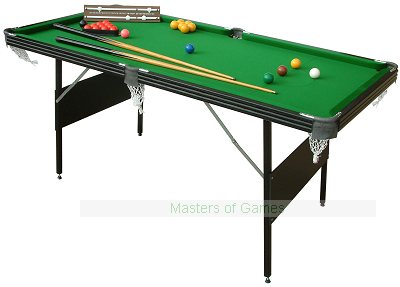 Mightymast Leisure 6ft Crucible 2-in-1 Foldup Snooker/Pool Table