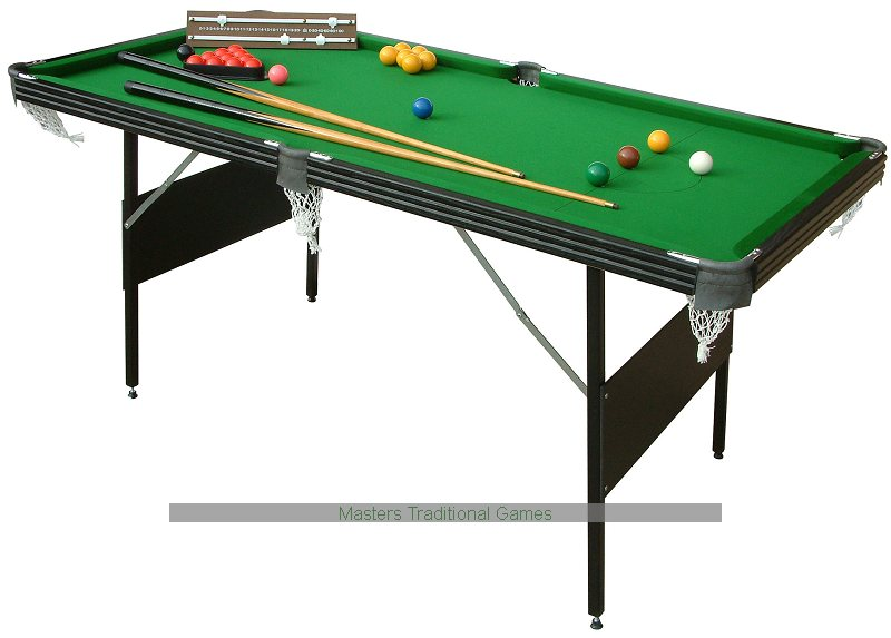 Elegant Mightymast 6ft Crucible 2 In 1 Foldup Snooker/Pool Table
