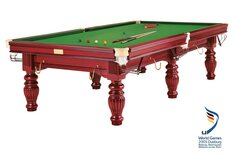 Dynamic Prince 12ft Snooker Table - Mahogany