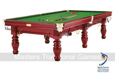 Dynamic Prince 9ft Mahogany Snooker Table - Mahogany