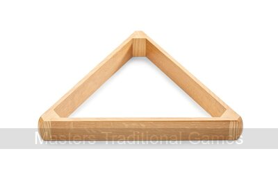 15 Ball Full-Size Snooker Triangle - Oak - for 2 1/16 inch balls
