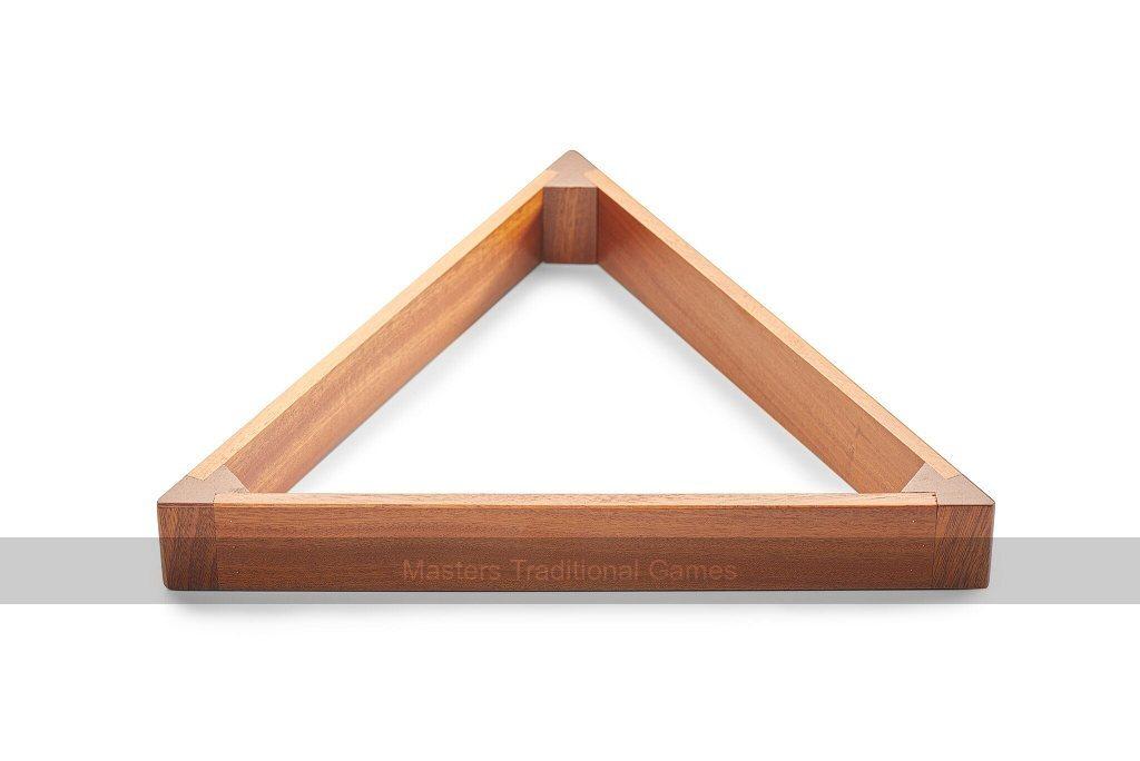 Mahogany Wooden Pool Table Ball Triangle