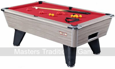 Driftwood finish on Supreme Winner Pool table