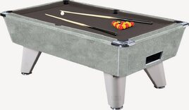 Italian Grey finish on Supreme Winner Pool table