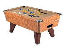 Amberwood Hi-Gloss finish on Supreme Winner Pool table