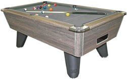Rustic finish on Supreme Winner Pool table