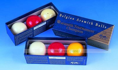 Set of Aramith Tournament Champion Billiard Balls (with Spot White, 2 & 1/16 inch, 52.5mm)