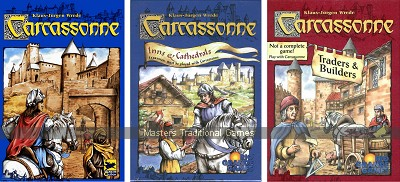 Carcassonne Bundle - Basic set with Expansions 1 & 2