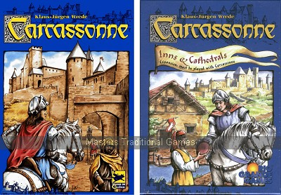 Carcassonne Bundle - Basic set with Inns and Cathedrals expansion