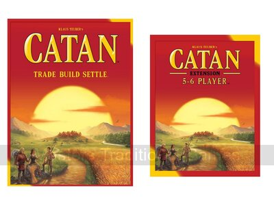 Catan Main Game With 5 - 6 Player Expansion