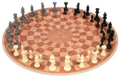 3 Man / 3 Player Chess (round board)