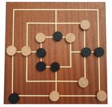 Dal Negro Nine Men's Morris Board & Wooden Pieces