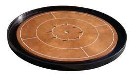Masters Crokinole Tournament Board - Walnut & Ebony (incl hanging kit)