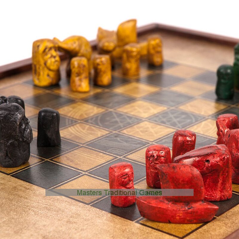 Chaturanga Chess 4 Handed Chess From Ancient India