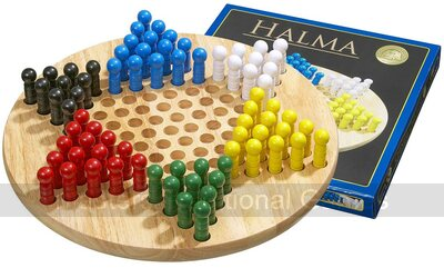 Chinese Checkers, large with wooden pegs