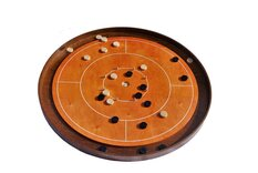 Masters Crokinole Tournament Board - Beech & Walnut