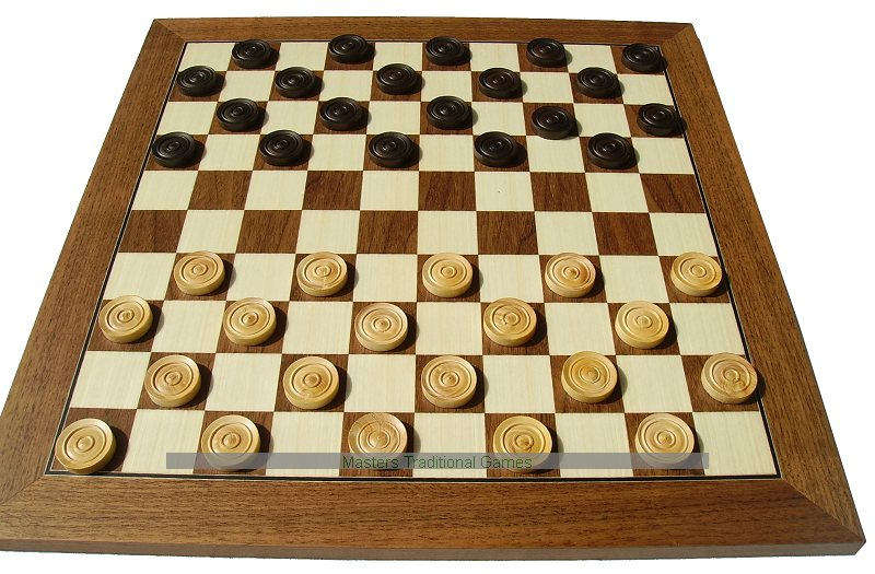 10 X Draughts Checkers 45cm Board
