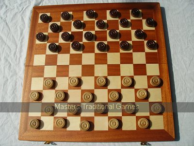 10 X 10 Folding Case Draughts set (40cm)