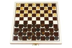 10 X 10 folding draughts set (25cm)