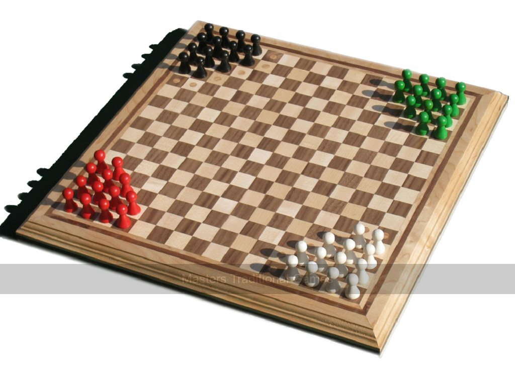 NEW HALMA BOARD GAME WITH WOODEN PIECES TRADITIONAL FAMILY STRATEGY HOM