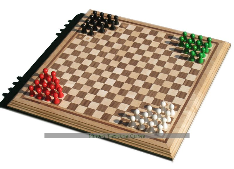 Wood Board Games ~ Halma board game hand made wooden set