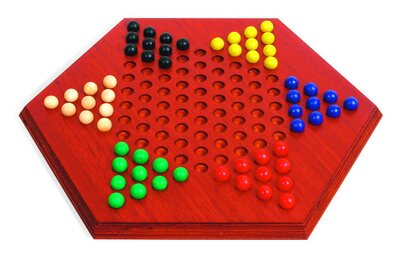 Large Hexagonal Chinese Checkers (Padauk wood)