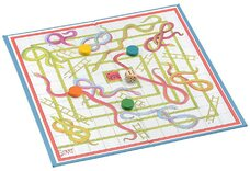Jaques Snakes & Ladders Card & Linen Board Game