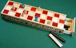 Ancient Egyptian Senet - painted red squares