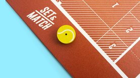 Set & Match - Table Top Disc Flick Tennis Game