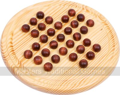 Solitaire with Wooden Marbles (21cm)