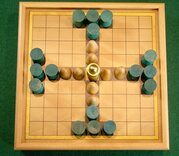 Tablut - Wooden Hnefatafl Game, 9 x 9 Board