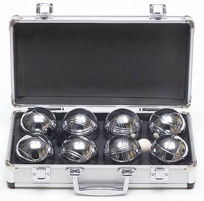 Garden Games set of 8 Boule (petanque) in metal case