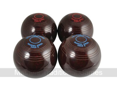 Set of 4 Drakes Pride biased Carpet Bowls (two pairs)
