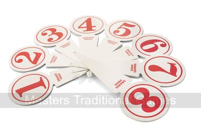 Metal rink markers (Set of 12 numbered 1 - 6 - suitable for 6 rinks)