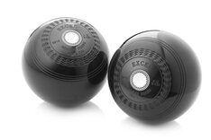 Lo-Density Excel Crown Green Bowls (gripped, set of 2, polished black)