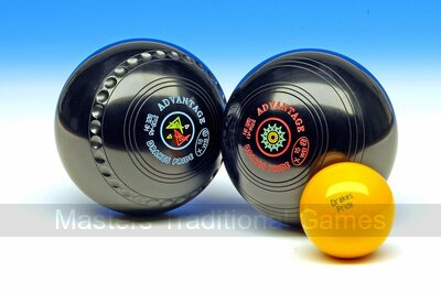 Drakes Pride Advantage Bowls (Heavyweight, Gripped, Black, Set of 4)