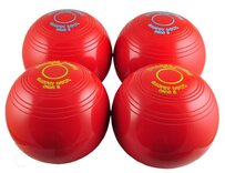 Drakes Pride coloured Carpet Bowls - Set of 4 (two pairs)