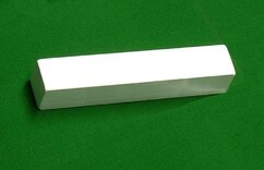 White 18 inch middle block for Carpet Bowls