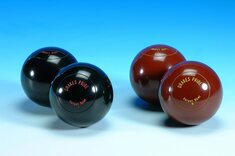 Pair Drakes Pride Scottish unbiassed Carpet Bowls - Black
