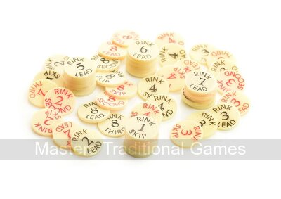 Set of 5 Drakes Pride balloting discs (for rinks 1 - 5)