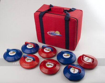 Kurling Stones Set (4 Red & 4 Blue in Carry Case)