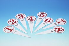 Metal rink markers (Set of 8 numbered 1 - 8 - suitable for 8 rinks)