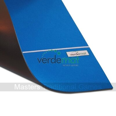 Verdemat Blue Carpet Bowls Mat (pre-marked)