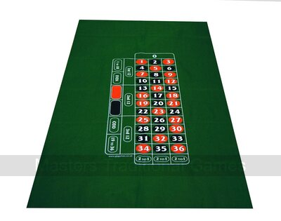 Roulette Layout - Green Felt - 180 x 95cm