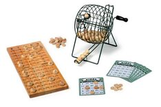 Bingo set (75 balls, large metal cage)