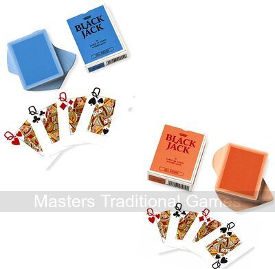 2 x Dal Negro Blackjack Playing Cards (1 red back, 1 blue back)
