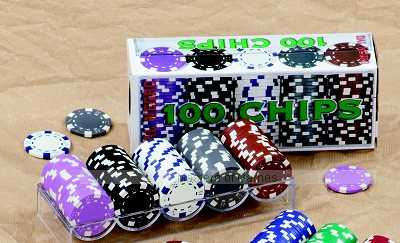 100 Dal Negro Casino Chips (11.5g, dice pattern, mauve, black, white, grey, brown)