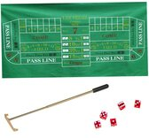 Casino Craps Set-Craps Layout, Precision Dice,Chip Rake& Chips