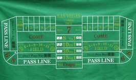 Craps Layout 180 x 90cm Green
